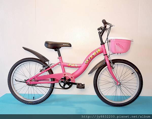20吋單速S型兒童腳踏車-粉色
