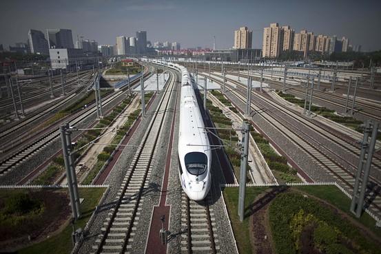 從北京南站開出的高鐵列車