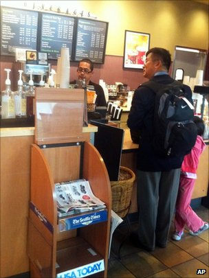 駱家輝買咖啡