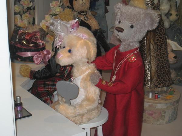 泰迪幫泰迪打扮~