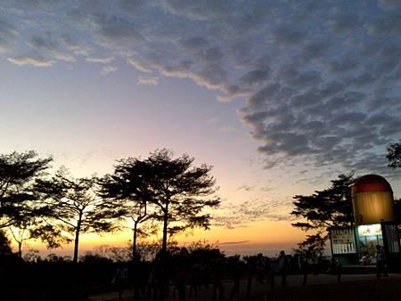 冬天的夕陽