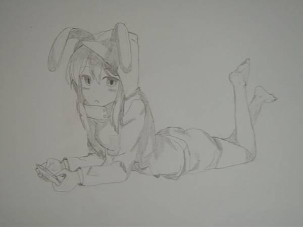 尼兔仿畫:不明