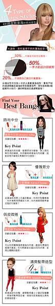 4款過度期瀏海的時尚造型