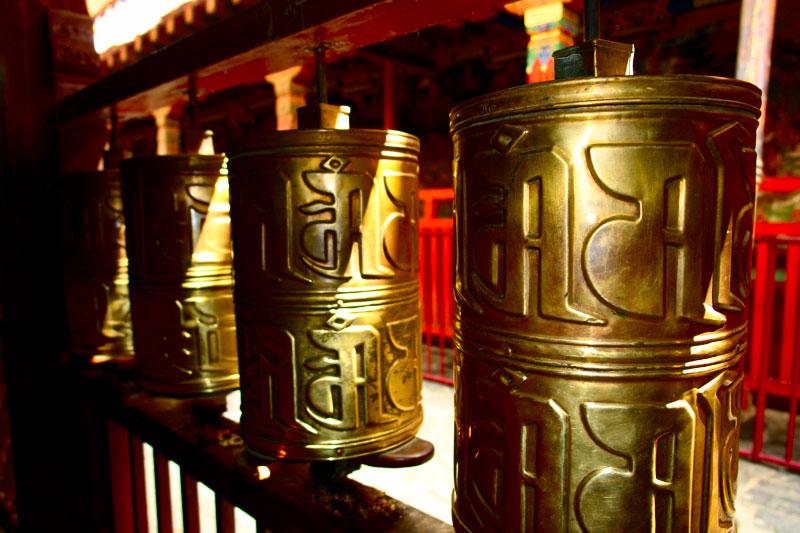 大昭寺的轉經筒