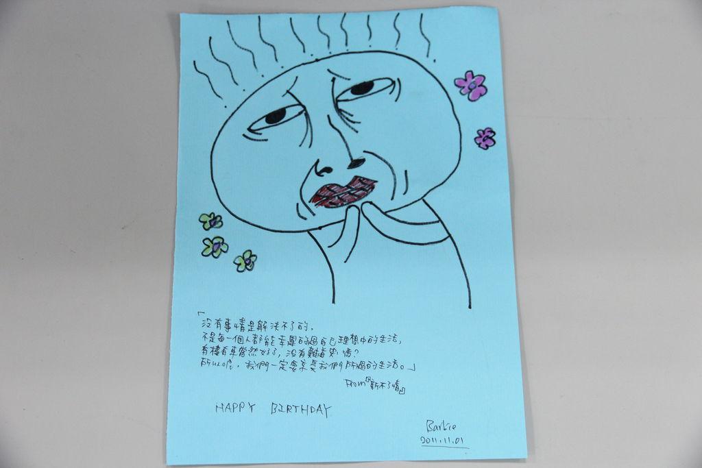 芭比每年生日都親手畫卡片給我(感動)