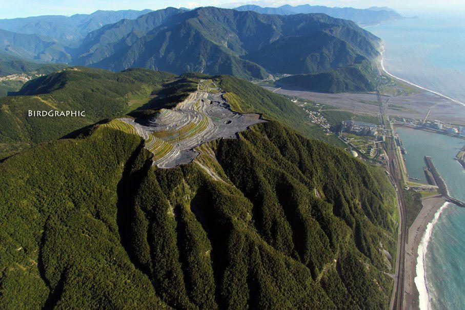 花蓮斷頭山之一:台灣水泥和平水泥礦區