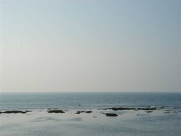 車騎到了藍藍的大海