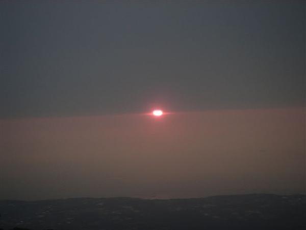下山途中 夕陽又出來了