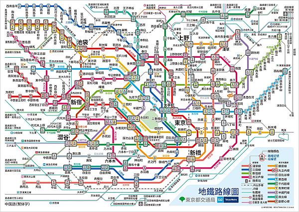 東京地鐵路線圖