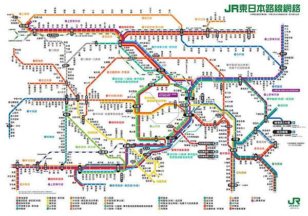 東京JR路線圖