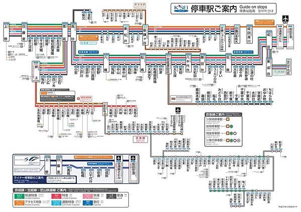 京成電鐵路線圖