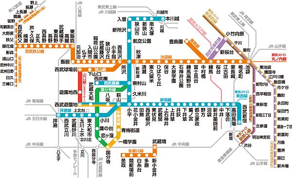 西武鐵道路線圖