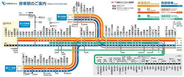 小田急電鐵路線圖