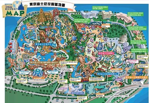 東京迪士尼地圖