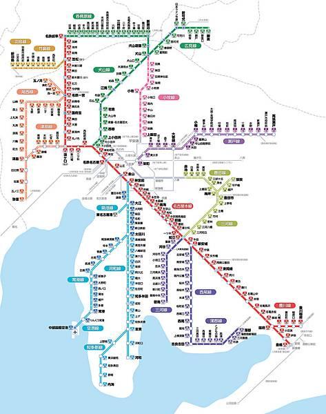 名古屋鐵道路線圖