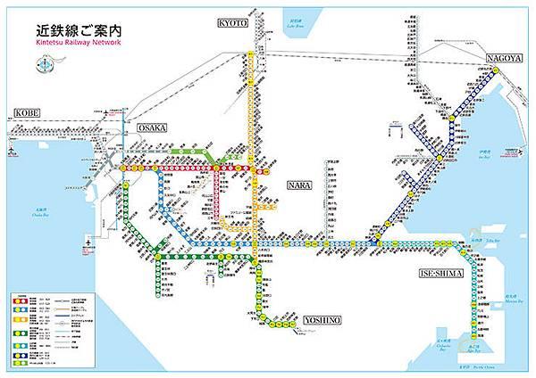 近畿鐵道路線圖
