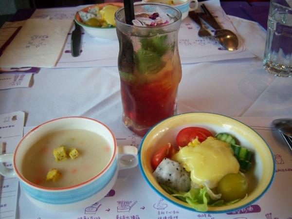 前菜、湯、飲料