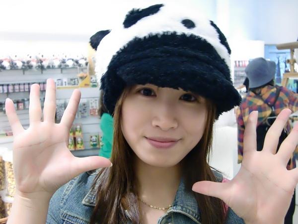 熊貓造型的帽子