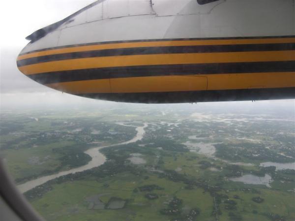 飛機上看孟加拉