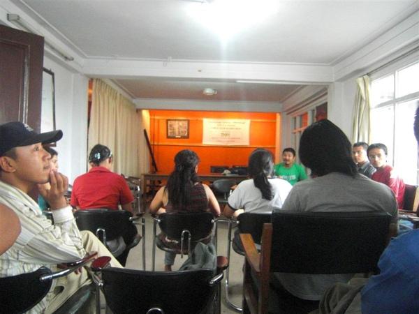 當地的NGO對於氣候變遷的開會