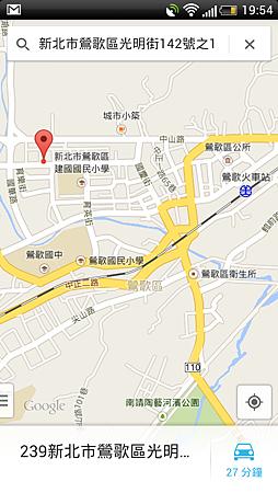 地圖和所需車程
