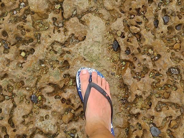 奎壁山發現腳曬傷了