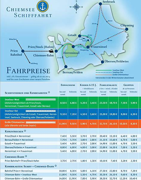 Schifffahrt 2014 ticket