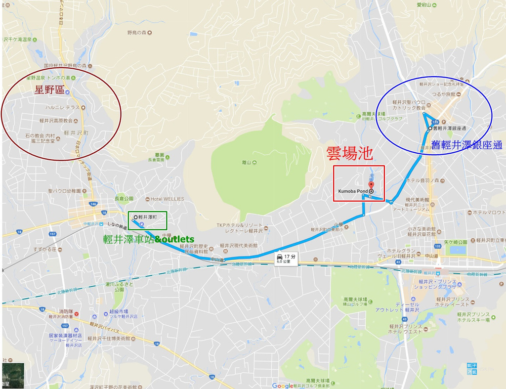 KSK-Kazuizawa Map