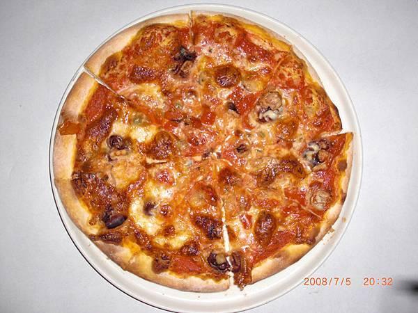 南洋辣味章魚披薩
