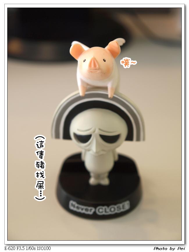 同場再加映~CLOSE醬與天使小豬~((這張的色調看起來怎麼有種悲慘感~XD