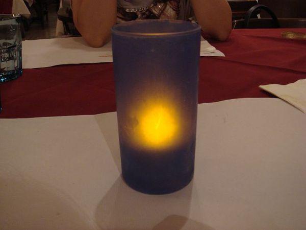 看起來像杯中有蠟燭