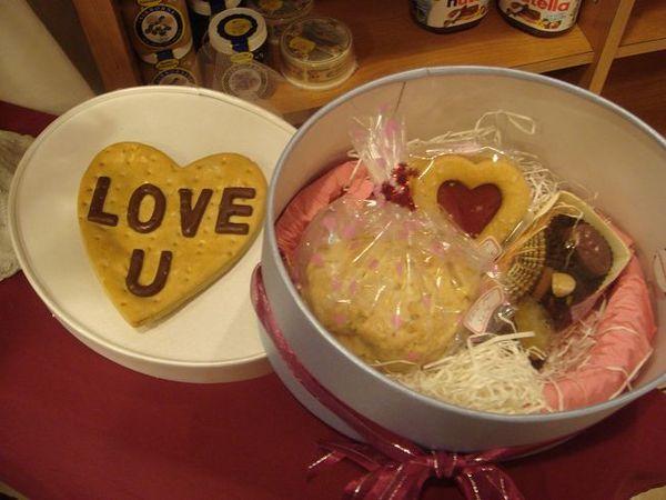 隔壁德國麵包店賣的情人節餅乾