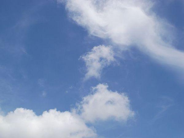 天氣很好,天空很美