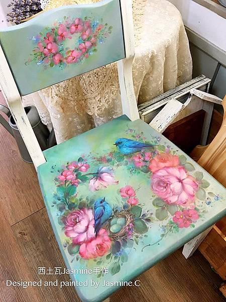 法式玫瑰 木器彩繪