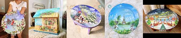 彩繪拼貼 台中木器彩繪 雲朵