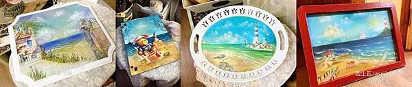 海洋 彩繪拼貼 台中木器彩繪