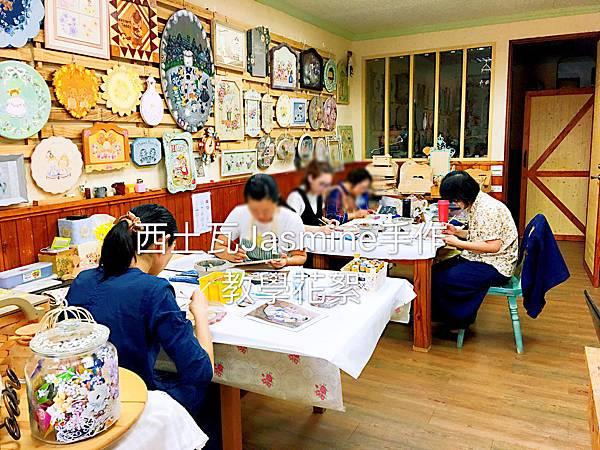 [學員作品] 教學紀錄 木器彩繪課程 愛麗絲下午茶