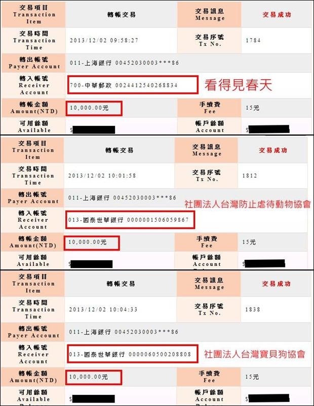 2014忍犬桌曆義賣捐款