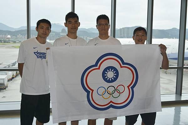 朱億宗、蕭元昶、尚韋帆、王男桂 (由左至右)2013年代表我國前往東京參加「FIBA 3x3 World Tour亞大區大師賽」