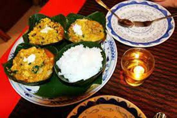 柬埔寨美食:阿莫克魚