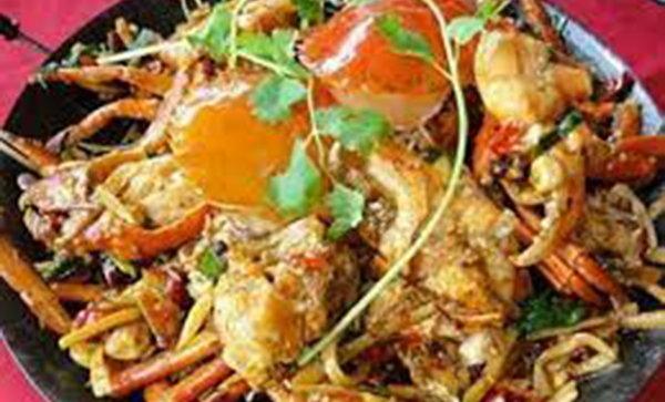 柬埔寨美食:炒螃蟹