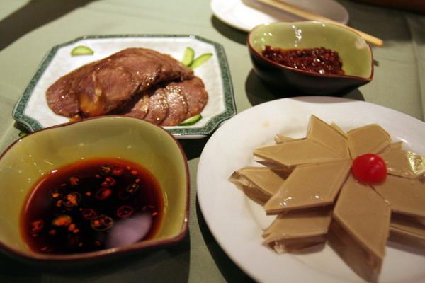 水晶鵝肝 & 滷牛腱
