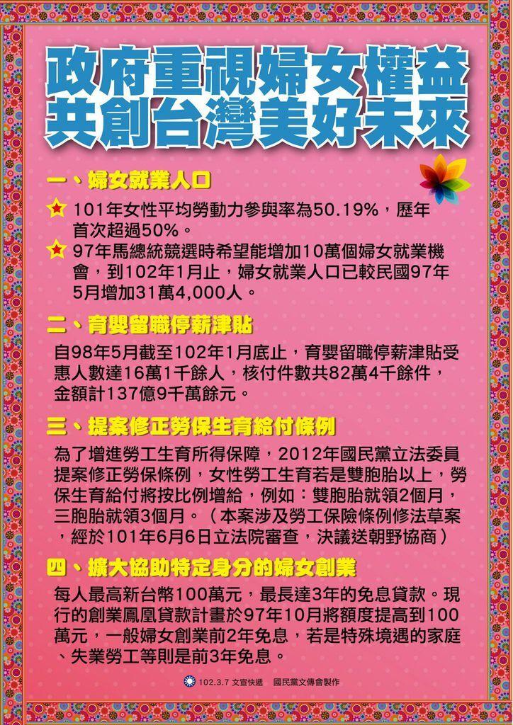 0308政府重視婦女權益 共創台灣美好未來