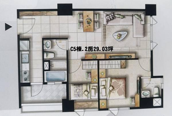 海科棧C5棟.2房 格局圖