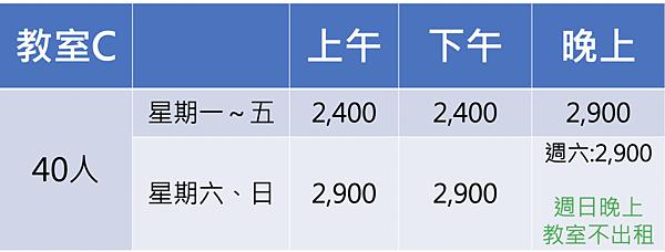 台中火車站教室租借/台中場地租借/C教室舒租用時段.jpg