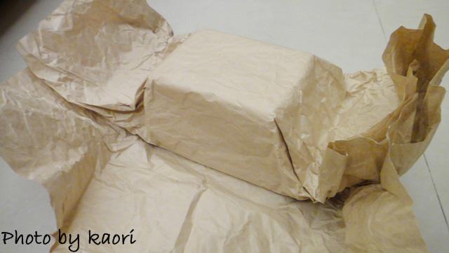 牛皮紙包著
