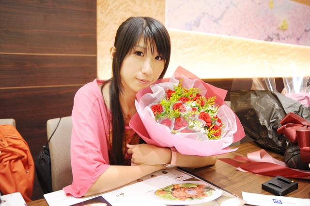 粉絲送的花