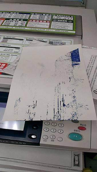 紙張是衣服專用的轉印紙,小七無法印刷失敗