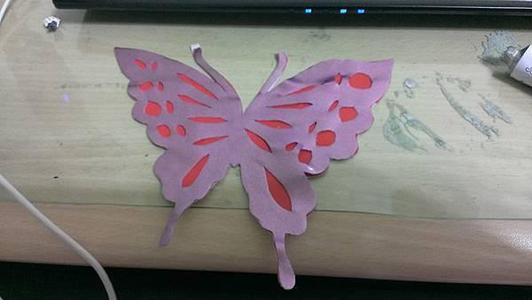 綾音的蝴蝶用皮布剪