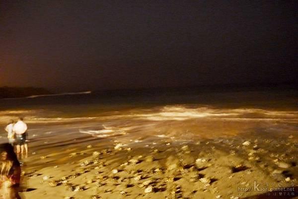 又來這邊看夜晚的海景
